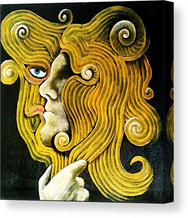 Speculum Canvas Print featuring the digital art Mirror by Paulo Zerbato
