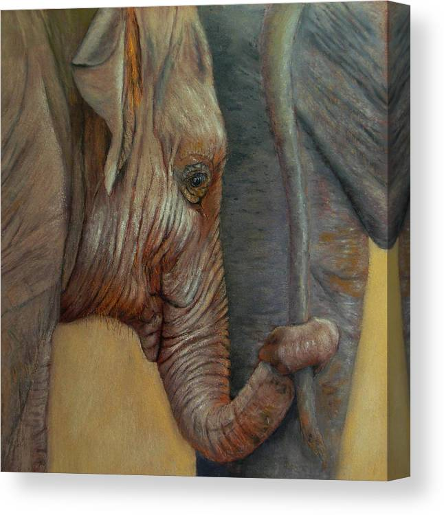 Africa Canvas Print featuring the painting Now You Hold On Tight by Ceci Watson