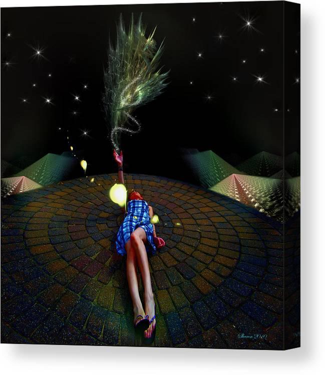 Canvas Print featuring the digital art Tashia's Universe by Sharon Hendrickson