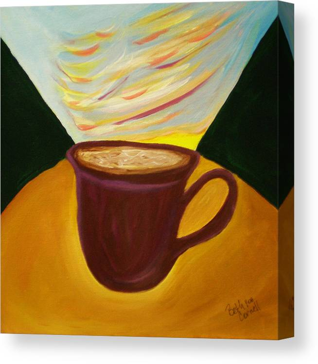 Up All Night Canvas Print featuring the painting Up All Night by Beth Cornell