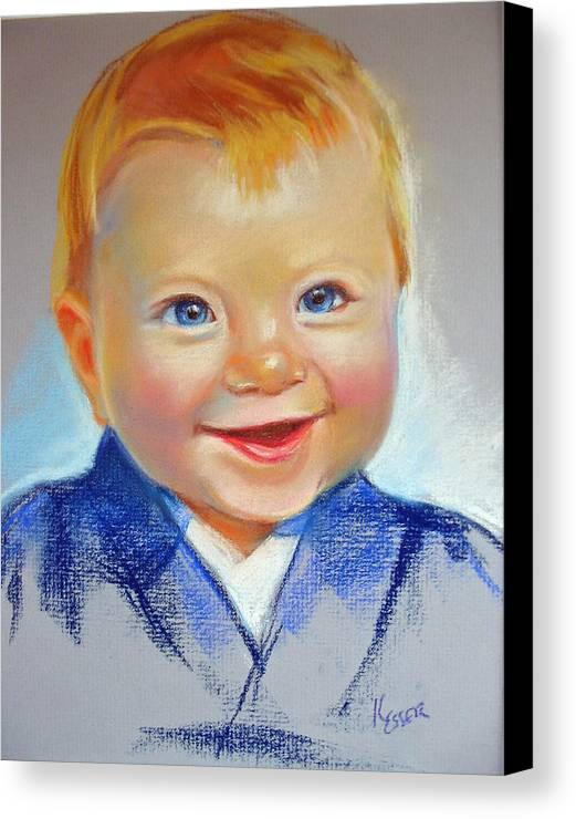 Baby Canvas Print featuring the painting Hunter by Kaytee Esser