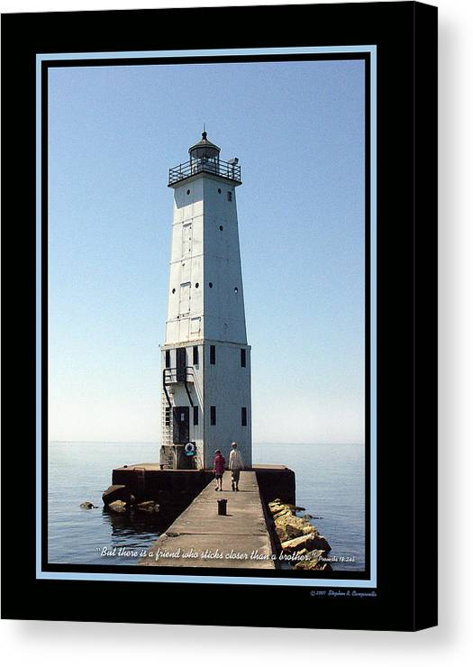 Frankfort Light Canvas Print featuring the photograph Friends by Stephen Campanella