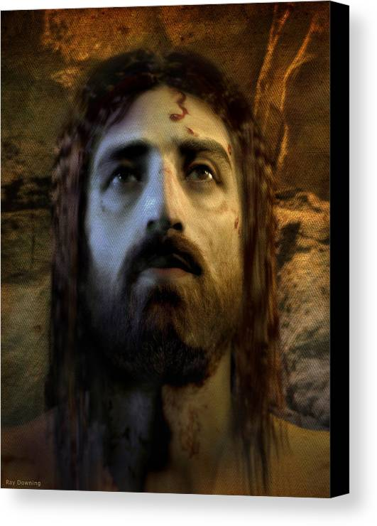 Jesus Canvas Print featuring the digital art Jesus Alive Again by Ray Downing