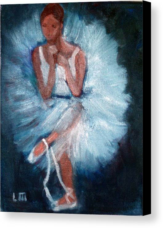 Classical Dance Canvas Print featuring the painting Ballerina 2 by Lia Marsman