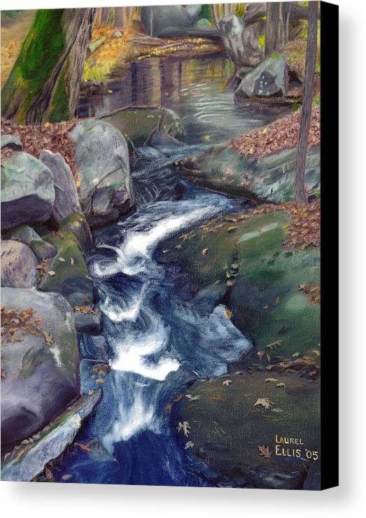 Landscape Canvas Print featuring the painting Mountain Brook Iv by Laurel Ellis