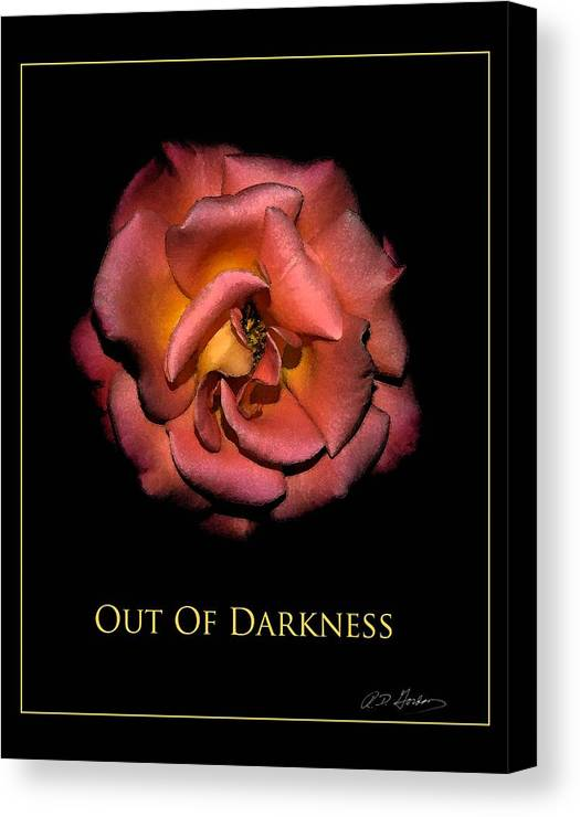 Canvas Print featuring the photograph Out Of Darkness by Richard Gordon