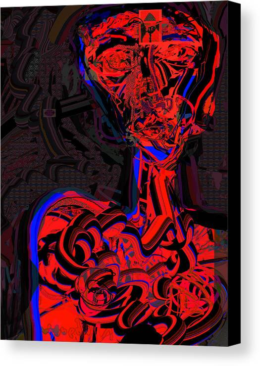Drawing Canvas Print featuring the digital art Profiling by Noredin Morgan