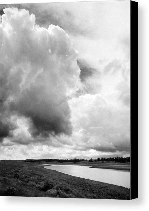 Landscape Canvas Print featuring the photograph Storm Over The River by Allan McConnell