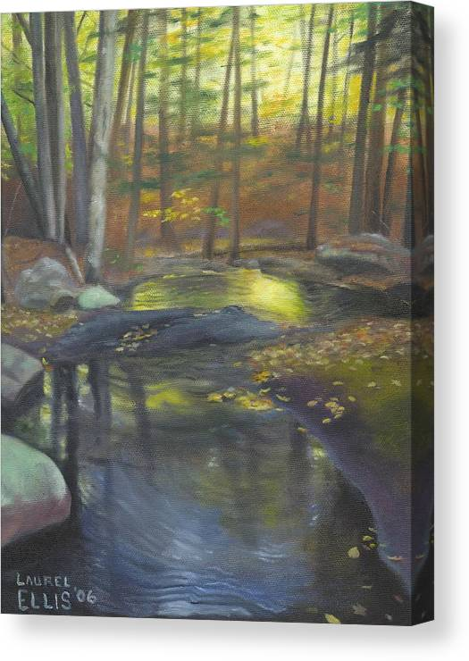 Landscape Canvas Print featuring the painting The Wading Pool by Laurel Ellis