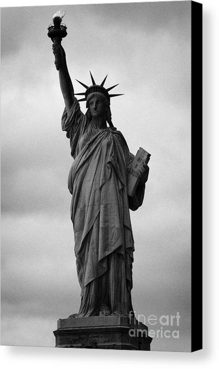 Usa Canvas Print featuring the photograph Statue Of Liberty National Monument Liberty Island New York City Nyc Usa by Joe Fox