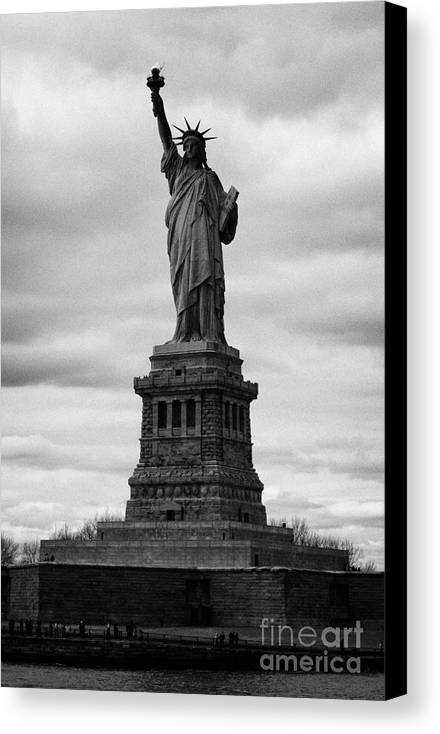 Usa Canvas Print featuring the photograph Statue Of Liberty National Monument Liberty Island New York City Usa by Joe Fox