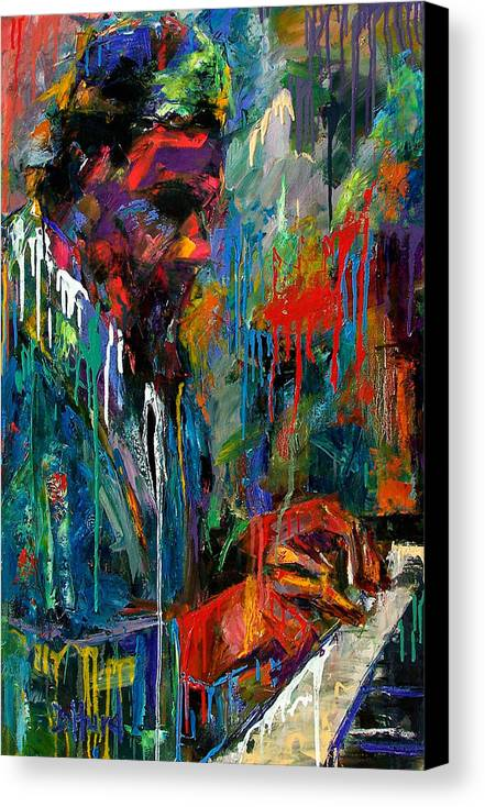 Painting Canvas Print featuring the painting Round Midnight by Debra Hurd
