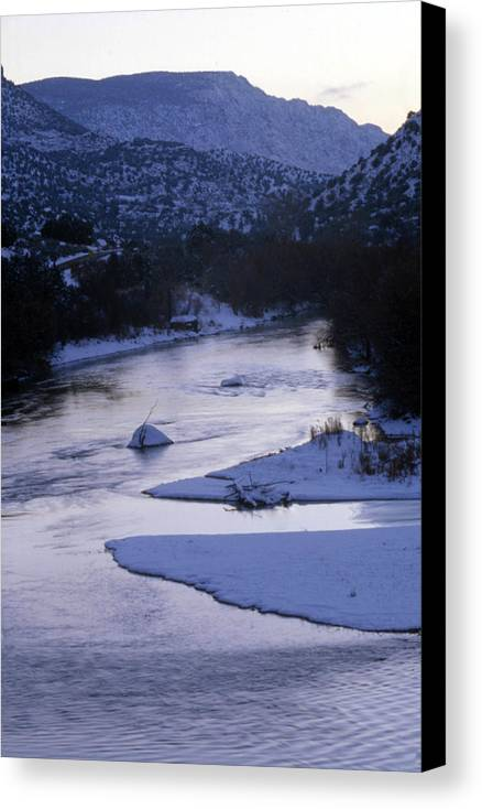 Landscape Canvas Print featuring the photograph Cold And Blue by Lynard Stroud