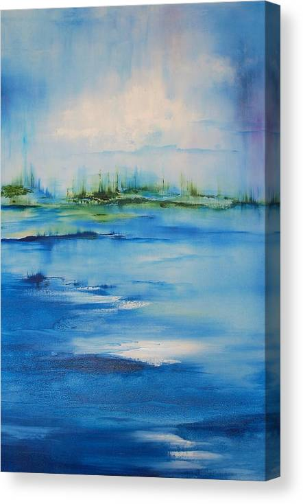 Abstract Canvas Print featuring the painting Approaching Storm by Larry Ney II