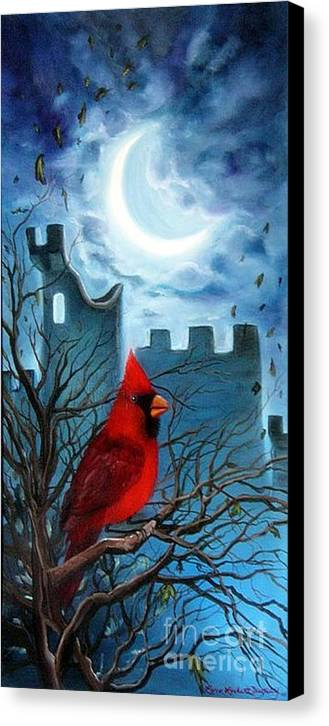 Cardinal Canvas Print featuring the painting The Cardinal by Lora Duguay
