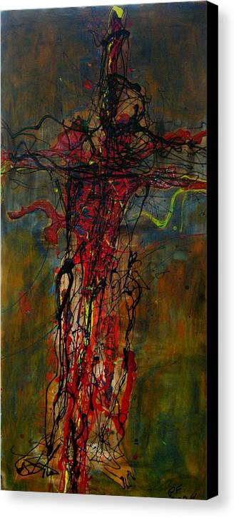 Cross Canvas Print featuring the painting Crucified by Paul Freidin