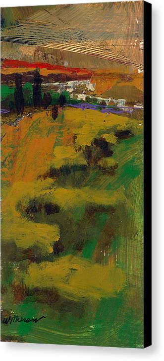 Sunset Canvas Print featuring the painting Hillside by Dale Witherow