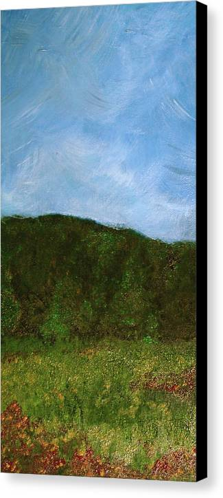 Landscape Canvas Print featuring the painting Study In Light Five by Karen Fowler