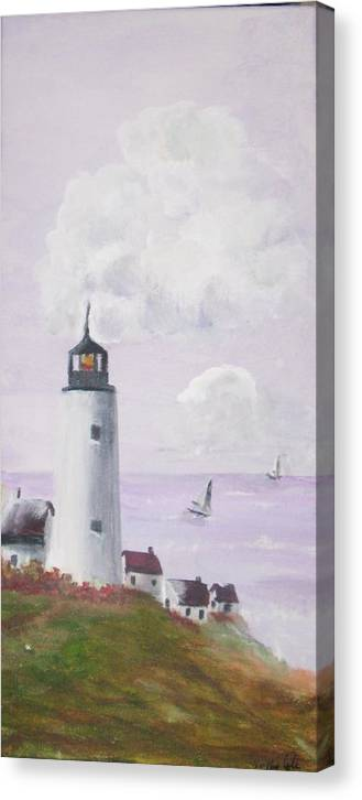Canvas Print featuring the painting Calm Seas by Trilby Cole