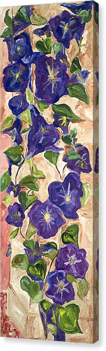 Floral Canvas Print featuring the painting Morning Glory by Bernadette Robertson
