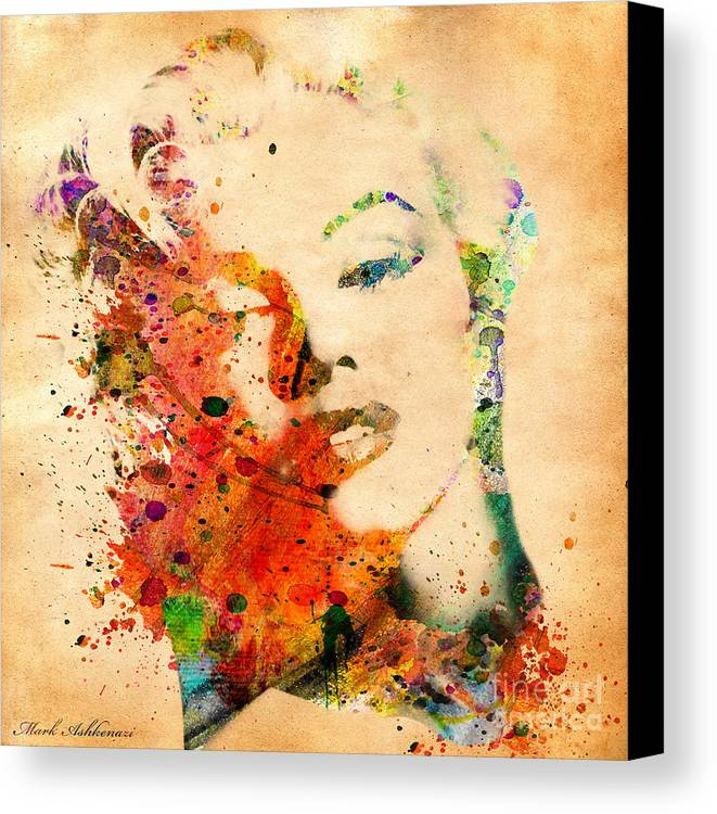 Marilyn Monroe Canvas Print featuring the digital art Beloved by Mark Ashkenazi