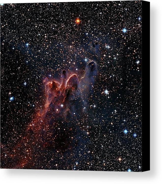 Composite Canvas Print featuring the photograph Cometary Globules In Vela And Puppis by Robert Gendler