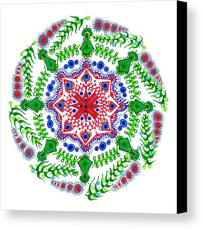 Cross Canvas Print featuring the drawing Safe Haven by Marie Parker