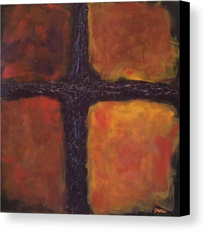 Square Canvas Print featuring the painting Southern Cross by Jim Ellis