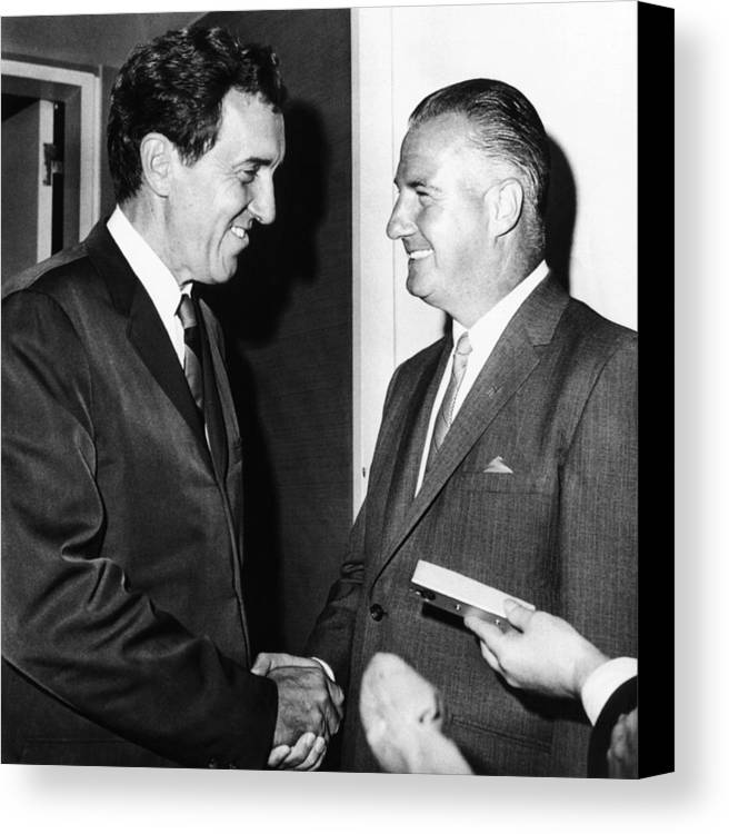 History Canvas Print featuring the photograph 1968 Republican And Democratic Vice by Everett