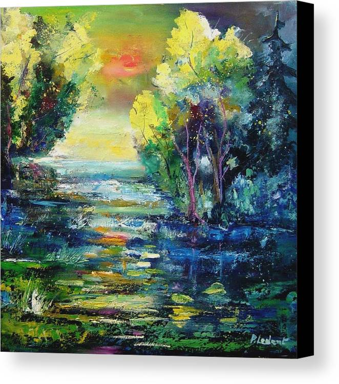 Pond Canvas Print featuring the painting Magic Pond by Pol Ledent