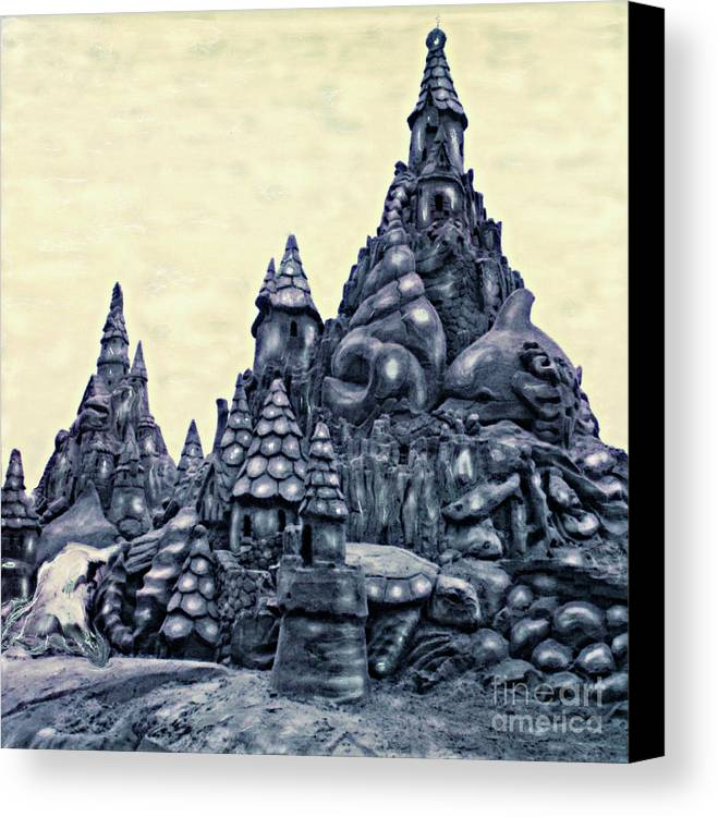 Sandcastles Canvas Print featuring the photograph Castles On The Beach by Keith Dillon