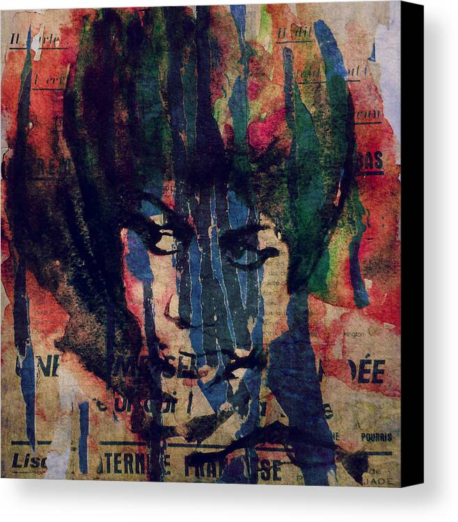 Us Canvas Print featuring the painting Don't Play That Song by Paul Lovering