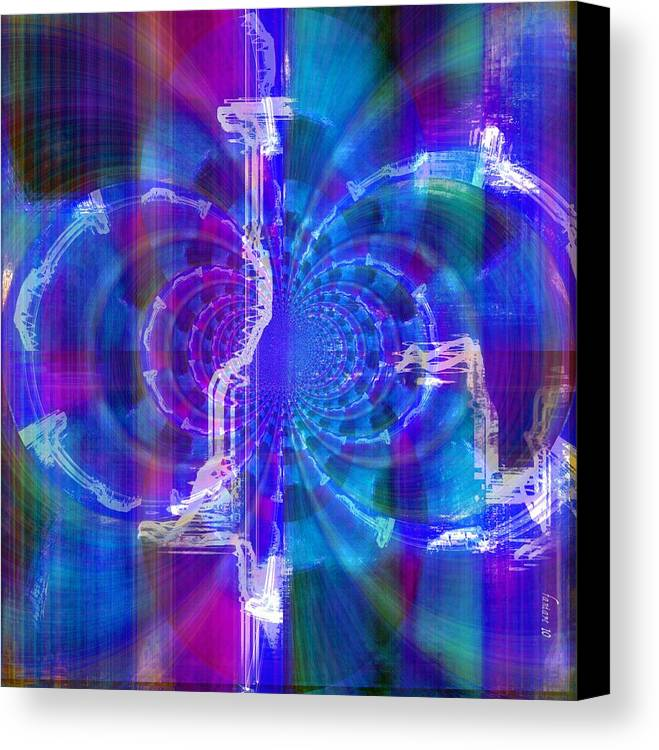 Fania Simon Canvas Print featuring the digital art Transformation And Impression by Fania Simon