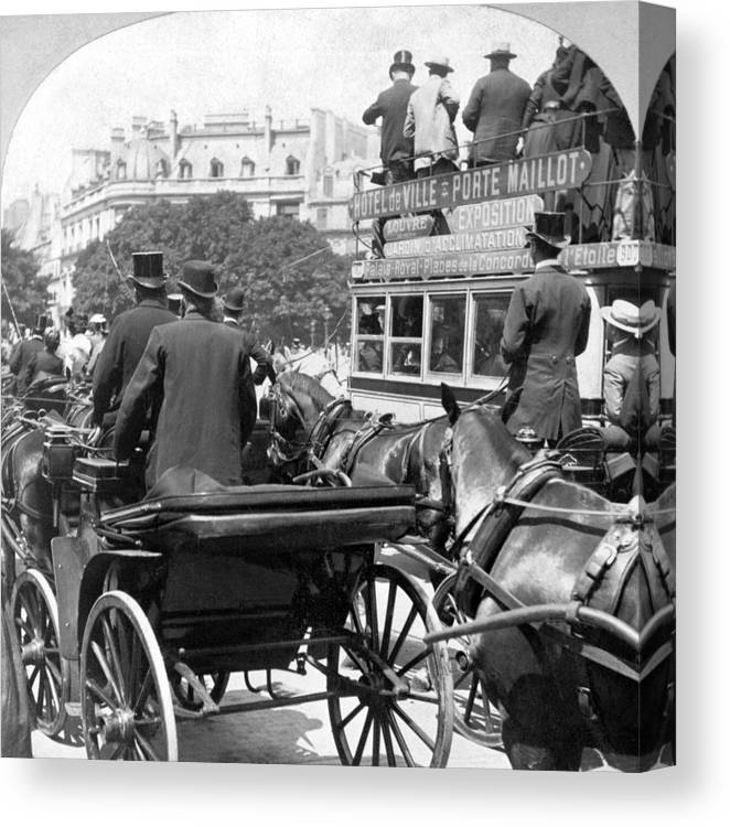 1904 Canvas Print featuring the photograph Paris Champs Elysees by Granger