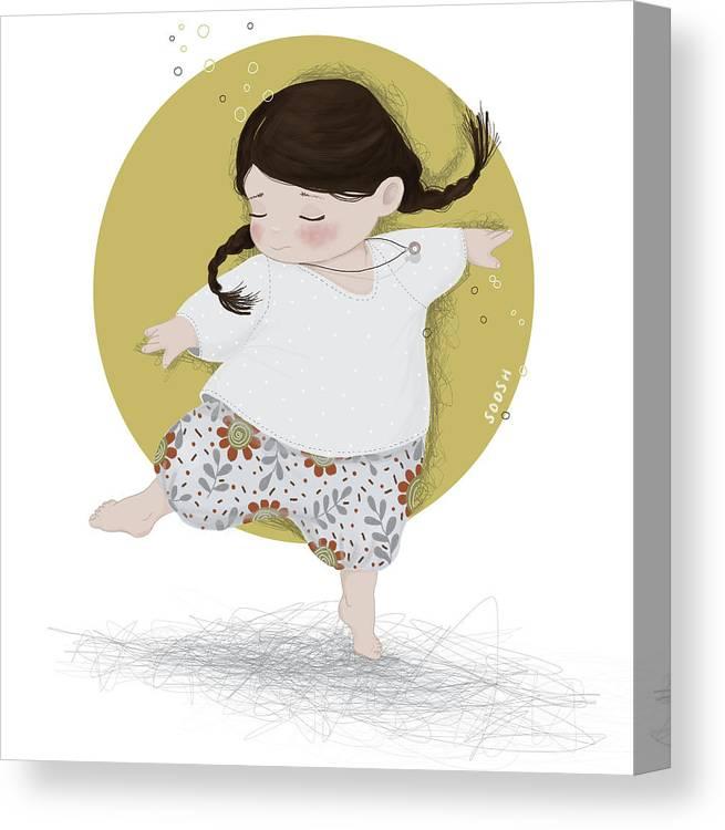 Art Canvas Print featuring the digital art Dance, Dance, Dance by Soosh