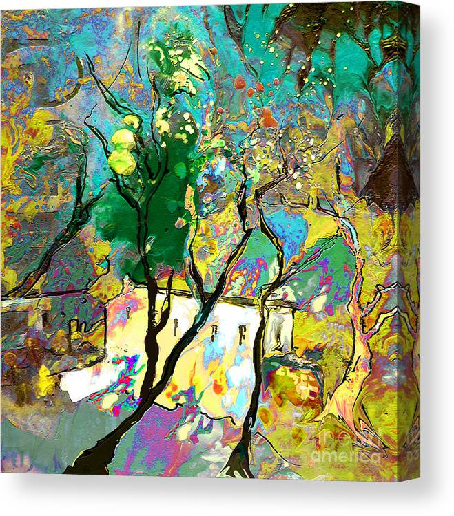 Miki Canvas Print featuring the painting La Provence 16 by Miki De Goodaboom