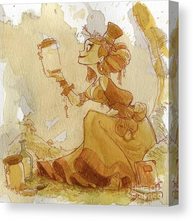Steampunk Canvas Print featuring the painting Mandarin by Brian Kesinger
