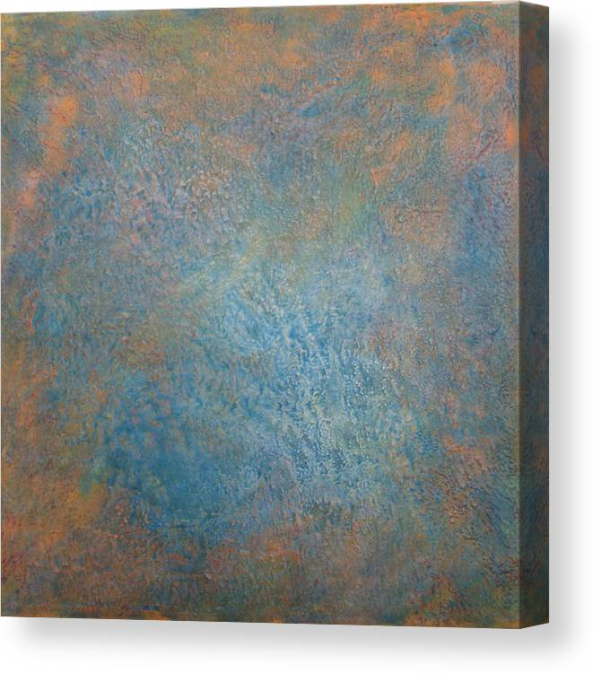 Abstract Canvas Print featuring the painting Meeting The Maker I by Jacob Stempky