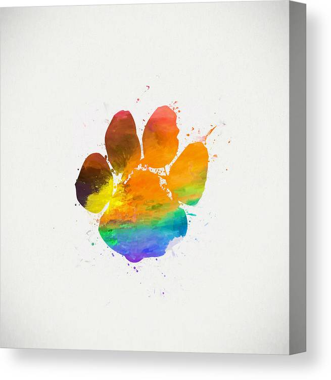 84f0a085904b Paw Print Color Canvas Print / Canvas Art by Dan Sproul