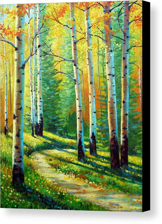 Landscape Canvas Print featuring the painting Colors Of The Season by David G Paul