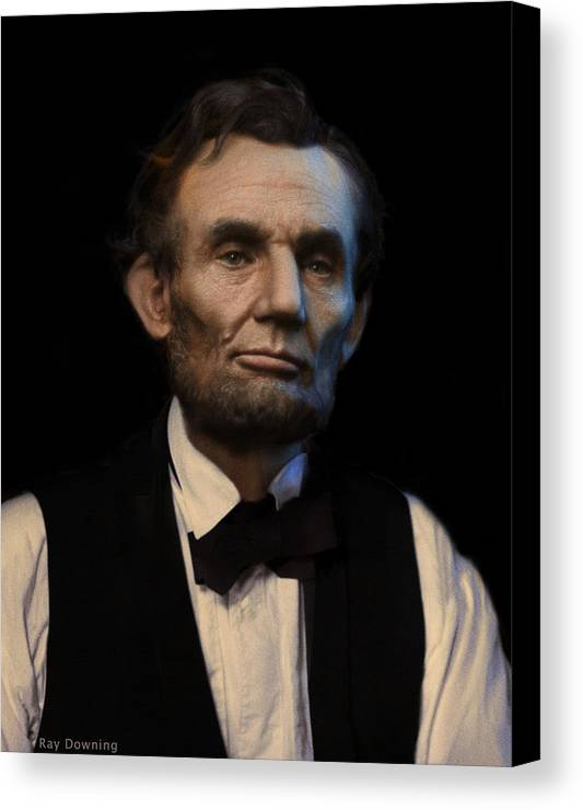 Abraham Lincoln Canvas Print featuring the digital art Abraham Lincoln Portrait by Ray Downing