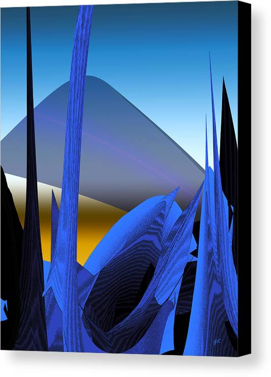 Digital Art Canvas Print featuring the digital art Abstract 200 by Gerlinde Keating - Galleria GK Keating Associates Inc