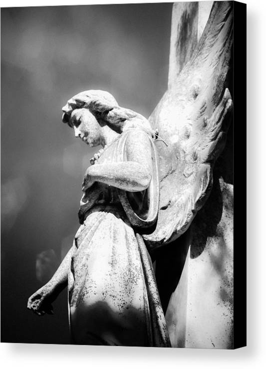 Angel Canvas Print featuring the photograph Bokeh Angel In Infrared by Sonja Quintero