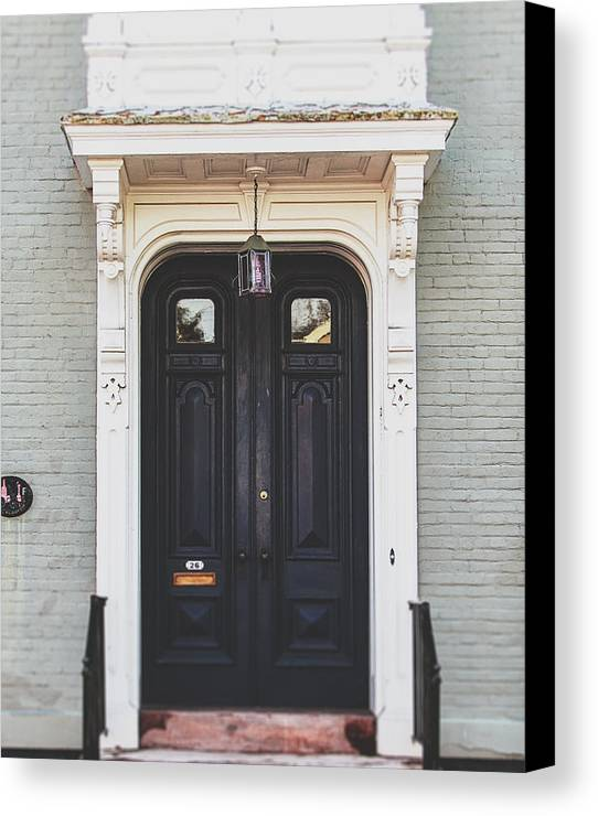 Door Canvas Print featuring the photograph The Stockade Door In Schenectady New York by Lisa Russo