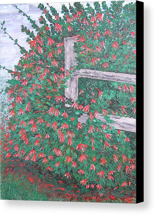 Floral Canvas Print featuring the painting Beauty Is Everywhere by Ricklene Wren
