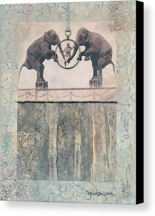 Magic Canvas Print featuring the mixed media Dream Of Love by Casey Rasmussen White