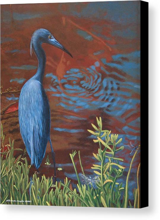 Painting Canvas Print featuring the painting Gazing Intently by Peter Muzyka