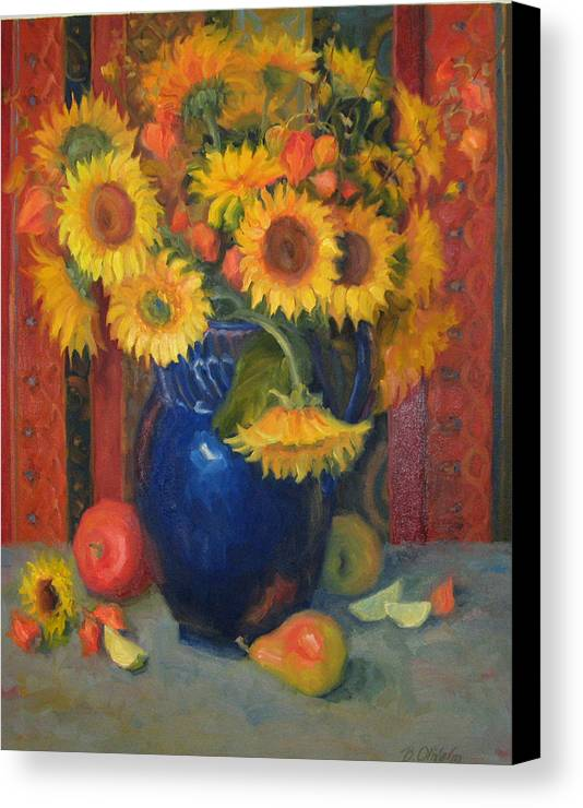 Still Life Canvas Print featuring the painting Glorioso by Bunny Oliver