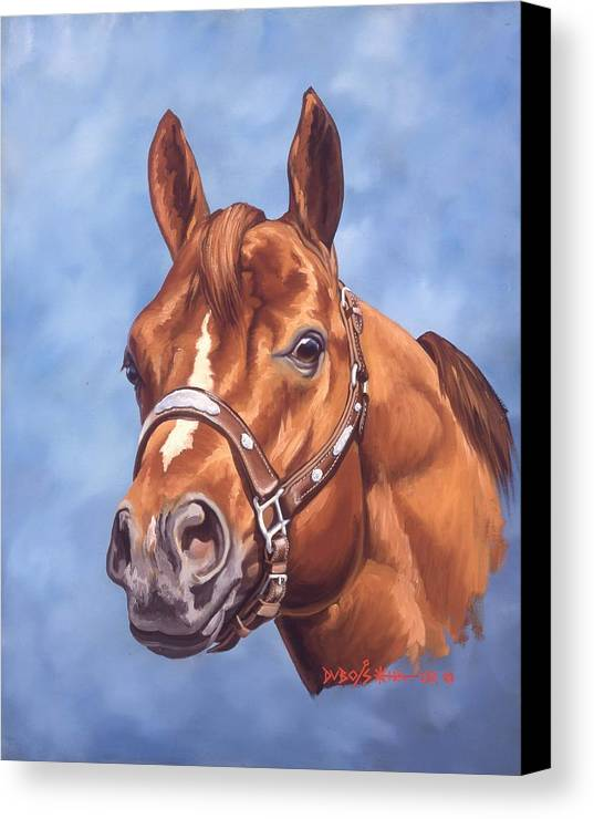 Quarter Horse Canvas Print featuring the painting Impressive by Howard Dubois