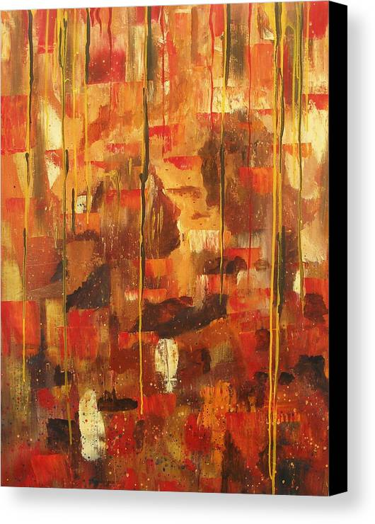 Abstract Canvas Print featuring the painting Kiss Me by Miroslaw Chelchowski